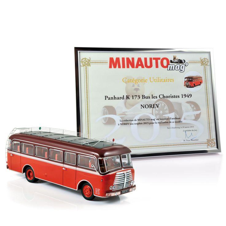 """NOREV has been rewarded for its 1949 'Panhard K 173' bus scale model by Minauto Mag' / NOREV a été récompensé pour son modèle au 1:43 du bus """"Panhard K 173"""" de 1949 par Minauto Mag'."""