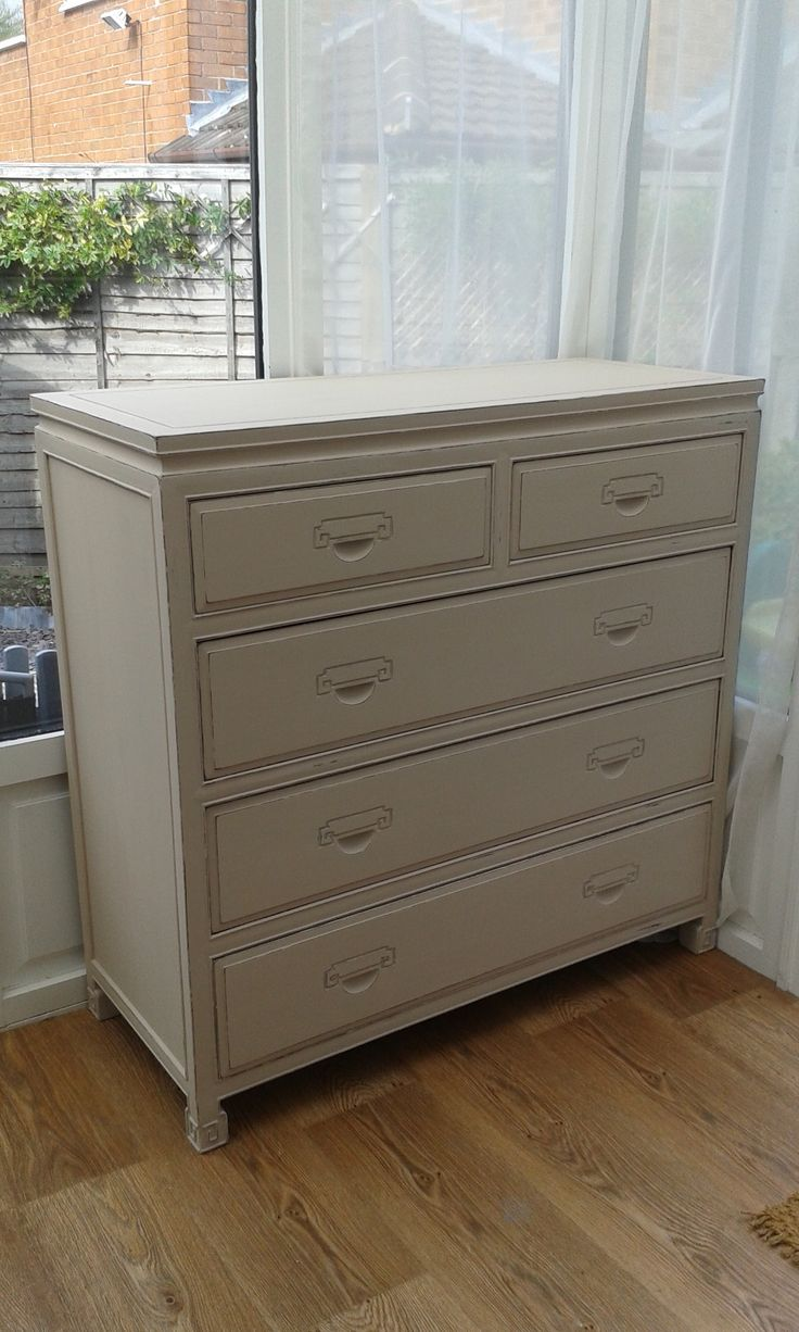 Painting furniture shabby chic - Chest Of Drawers In Irish Cream By Everlong Paint Irish Creamchest Of Drawerspainted Furniturewardrobesshabby Chic