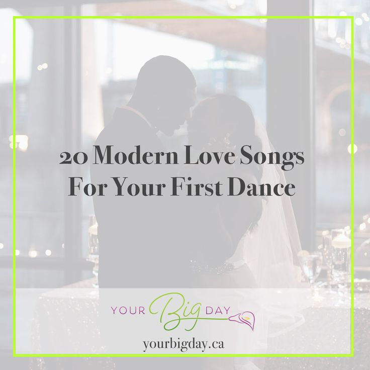 20 Modern Love Songs for Your First Dance