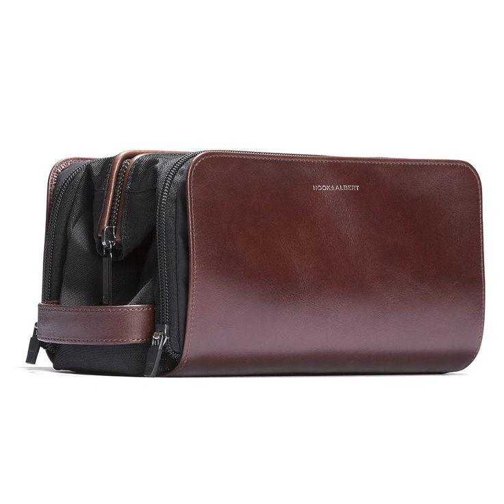 Leather Travel Dopp Kit - HOOK & ALBERT