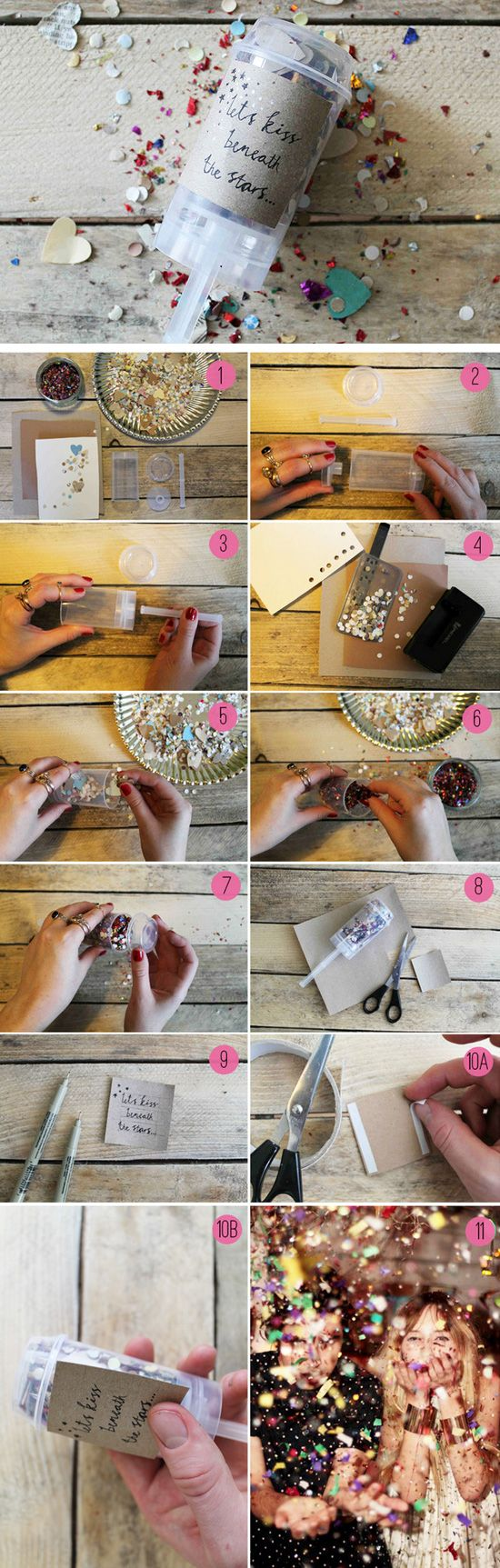 DIY Confetti Pops | Click Pic for 24 DIY Spring Wedding Ideas on a Budget | DIY Spring Wedding Decorations on a Budget