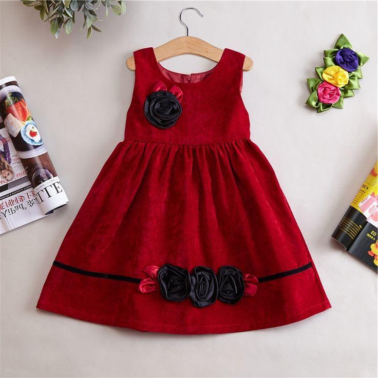 29.90$  Watch now - https://alitems.com/g/1e8d114494b01f4c715516525dc3e8/?i=5&ulp=https%3A%2F%2Fwww.aliexpress.com%2Fitem%2FNew-Cotton-Velvet-Girls-Dress-Children-Winter-Autumn-Flower-Party-Clothes-Red-Nvay-Brown-Kids-Clothes%2F32769695254.html - New Cotton Velvet Girls Dress Children Winter Autumn Flower Party Clothes Red Nvay Brown Kids Clothes Girl Clothes 29.90$
