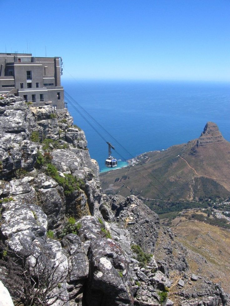 Table Mountain, Cape Town, South Africa.  A National Heritage Site.