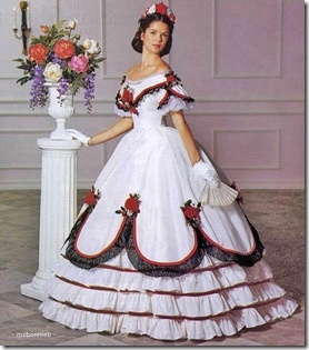 Civil War era ball gown. There is a pattern for this from Butterick