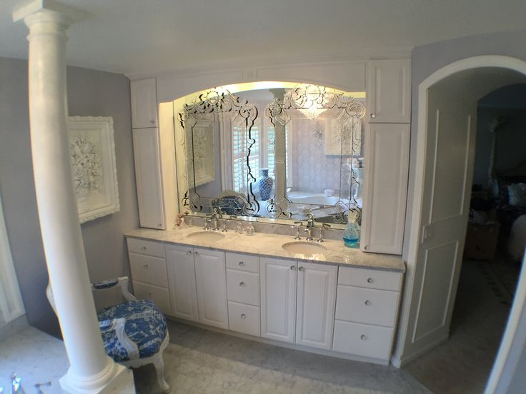 Photo Image This glamorous bathroom has all the trappings of Versailles What us your favorite detail in