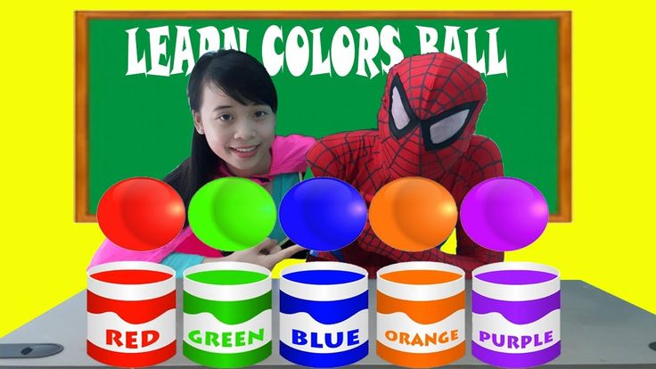 Spiderman and Frozen Elsa AT SCHOOL LEARN COLOR WITH BALLS! Teacher Anna...