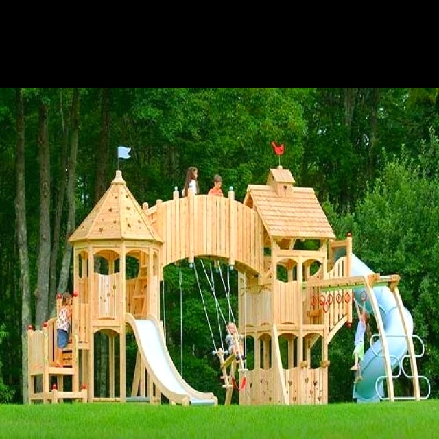 My future kids will play so hard. This could be the backyard castle for our knights and princesses.