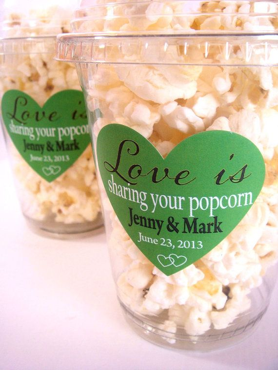 Popcorn Boxes Wedding Favor Engagement Party by PoshBoxCouture, $20.00