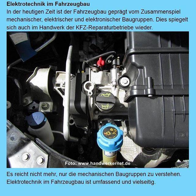 Elektrotechnik im Fahrzeugbau.  Im #Handwerk ist der #Beruf des #Mechatronikers nicht nur im #Fahrzeugbau anzutreffen. Überall im #Maschinenbau wird diese #Ausbildung gern gesehen. Mehr dazu unter: http://www.handwerkernet.de/elektrotechnik-fahrzeugbau.html  #handwerker #kfz #bordcomputer #beleuchtung
