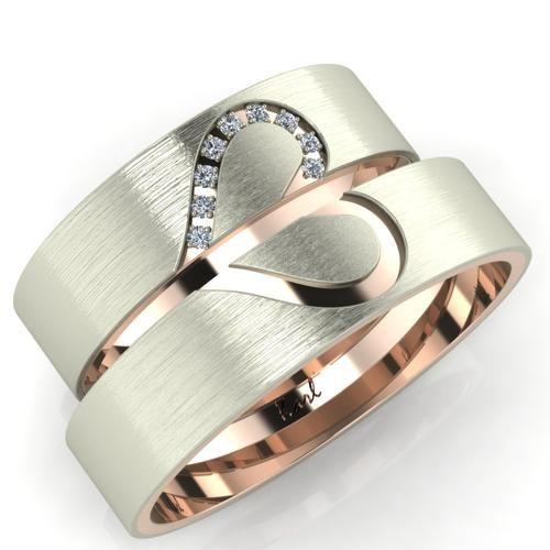 Szívecske pár karikagyűrű