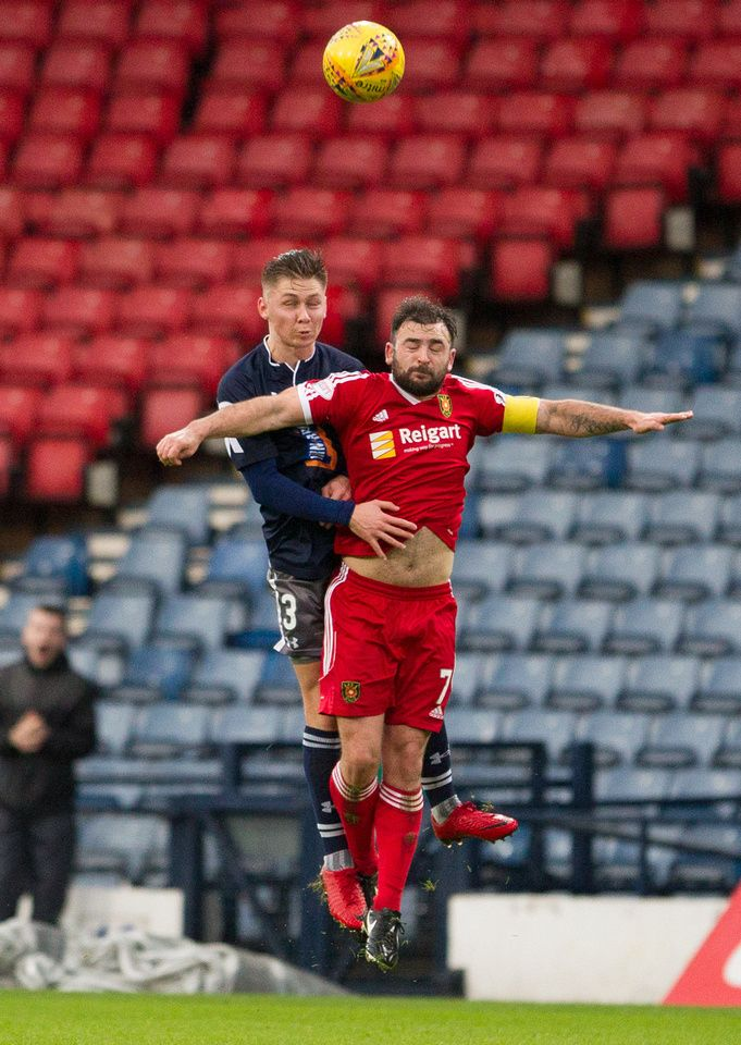 Queen's Park's Ciaran Summers in action during the SPFL League One game between Queen's Park and Albion Rovers