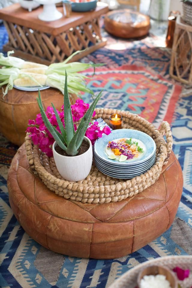Easy ideas to improve your outdoor decor for warmer weather.: Floor Pillows and Poufs