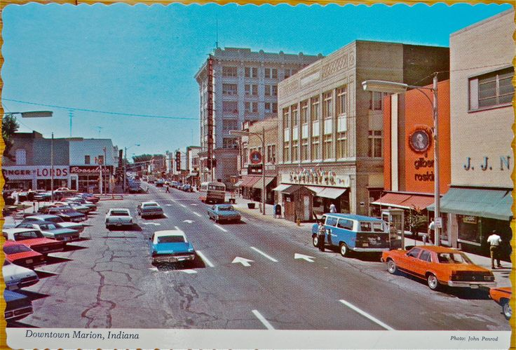 Downtown marion in the late 1960s or early 1970s photo