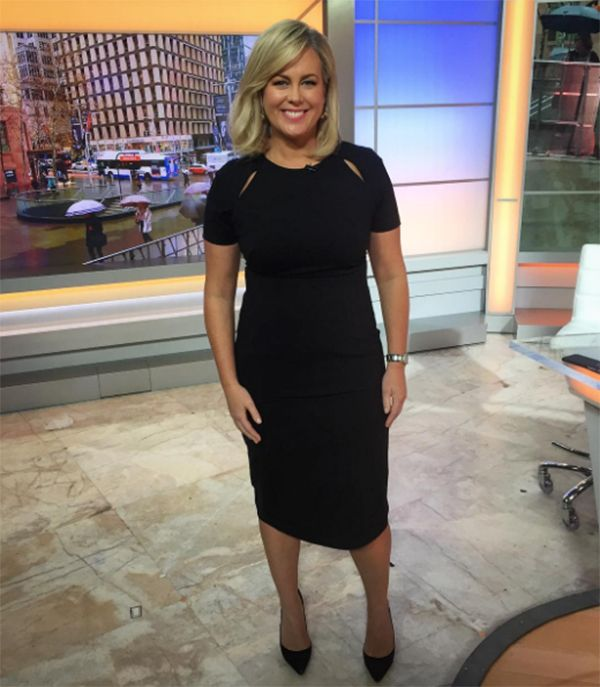 Sam Armytage wearing the Black Ponti Dress #acstyle