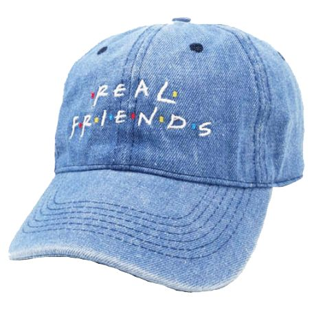 REAL FRIENDS SERIES EMBROIDERY CAP $13,5
