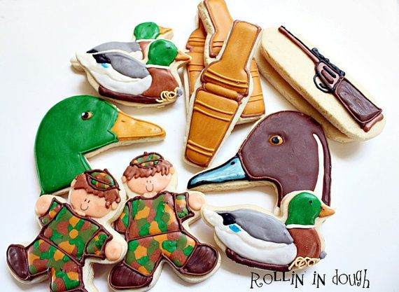 Duck Hunting Cookies Hunting Cookies by rollinindough on Etsy, $28.00