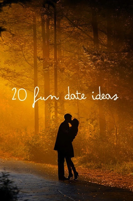 20 Fun Date Ideas, courtesy of @Laurie Hamilton Chapman #dateideas #fundate #valentinesday