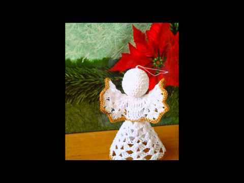 Christmas angel Рождественский ангел Crochet pattern - вязание крючком - YouTube