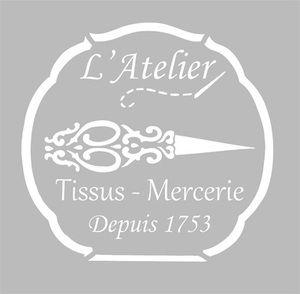 Pochoir Adhésif 19 x 19 cm PUB COUTURE                                                                                                                                                     Plus