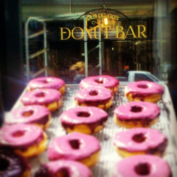 Besides being the best donuts on the planet they are here in San Diego and PINK!