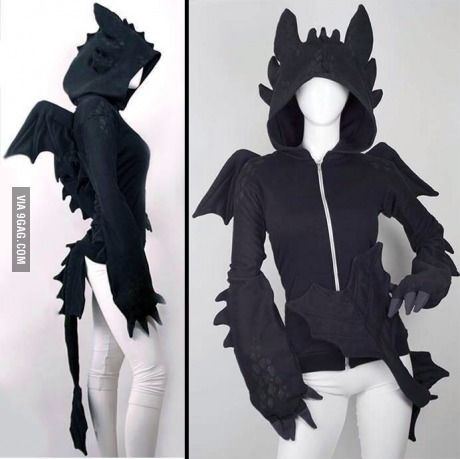 "Toothless hoodie... Okay I'm ""How To Train Your Dragon"" fanatic... SUE ME!"