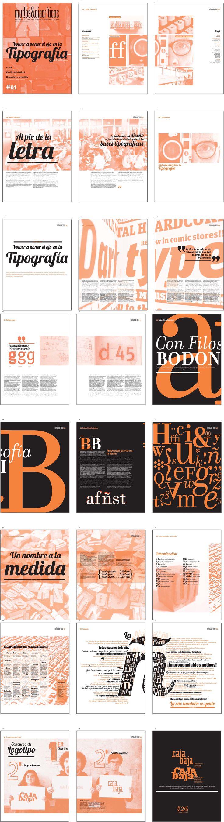 """Revista Tipografica """"MUDOS Y DIACRITICOS"""" TIPO2"""