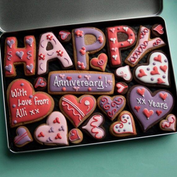 Large Happy Anniversary Gift Tin