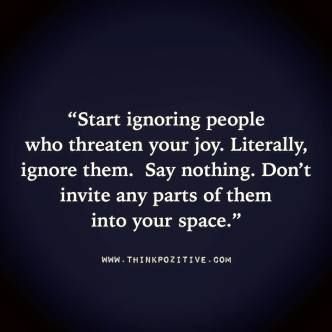 Start Ignoring People, it's what I do. Don't need people talking about me behind my back from what I told them. If they want to be in my life they would make an effort.