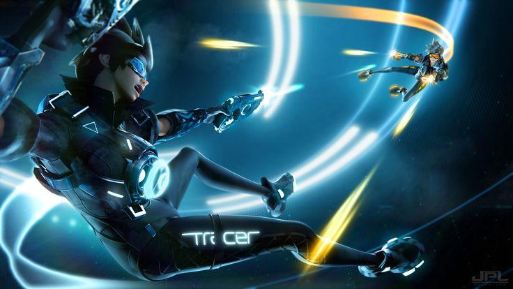 Vídeo Game Overwatch  Tracer (Overwatch) Papel de Parede