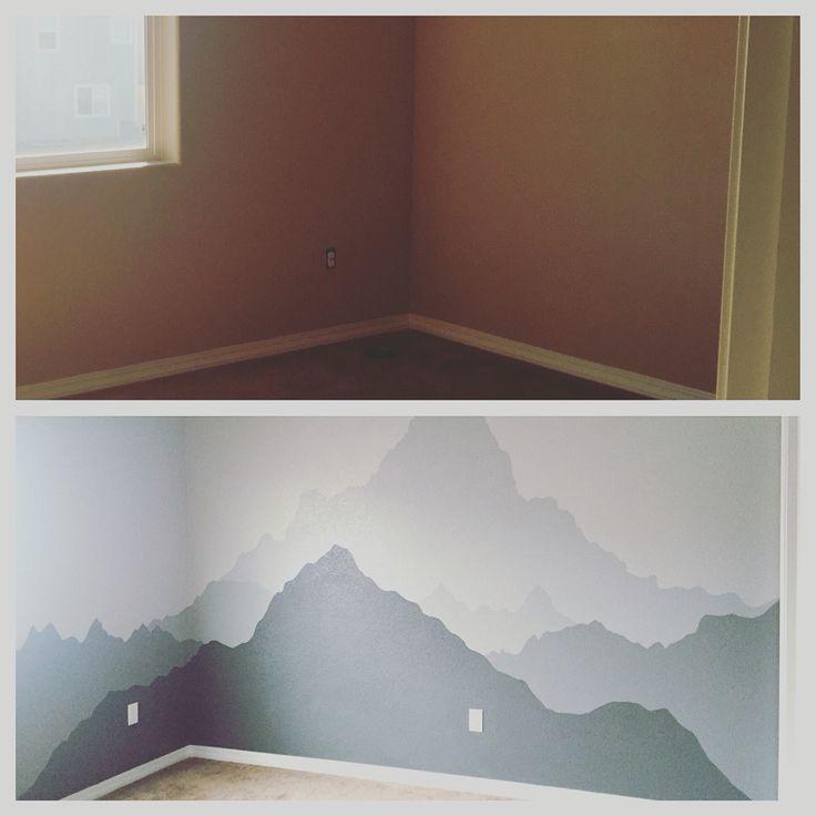 Best 25 grey siding house ideas on pinterest gray for Diy mountain mural