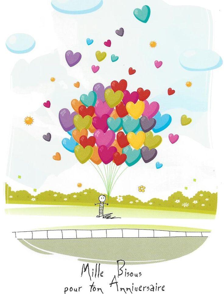 Carte postale lacher de petits bonheurs patrick Chauvet