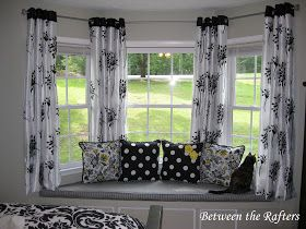Do It Yourself Bay Window Curtain Rod Tutorial Living Room