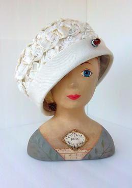 1950s Vintage Cloche Couture Hat // Bucket by TrueLoversBridalShop, $42.00