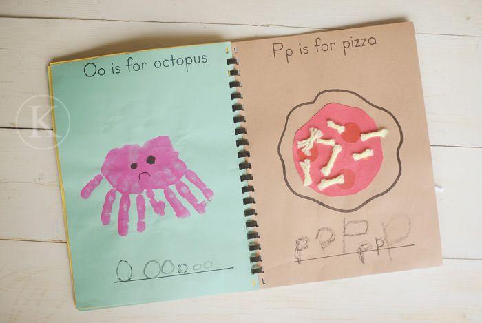 A preschool ABC book...Great idea for a letter a week!!! :)