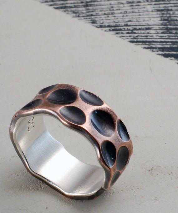 Cráter anillo con plata fina  anillo