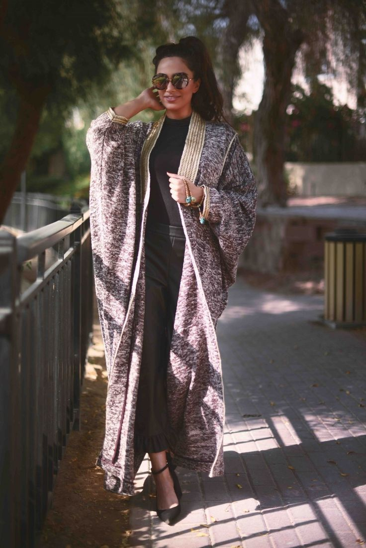 Brown Bisht with Golden Embellishment - Farwa Winter Collection