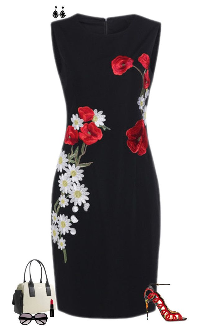 """Red & white flowers"" by julietajj on Polyvore featuring Christian Louboutin, Kate Spade, Smashbox and Chloé"