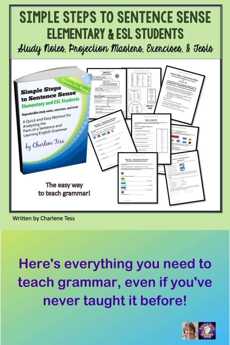 Elementary And Esl Students Will Love Learning Grammar And Sentence Analysis When Using This Ebook Notes Ex Grammar Teaching English Grammar Teaching Grammar [ 1102 x 735 Pixel ]