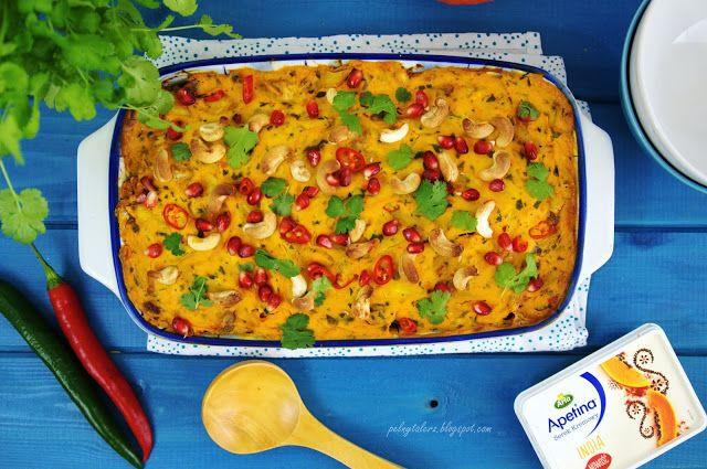 Zapiekanka Curry z Kurczakiem i Makaronem