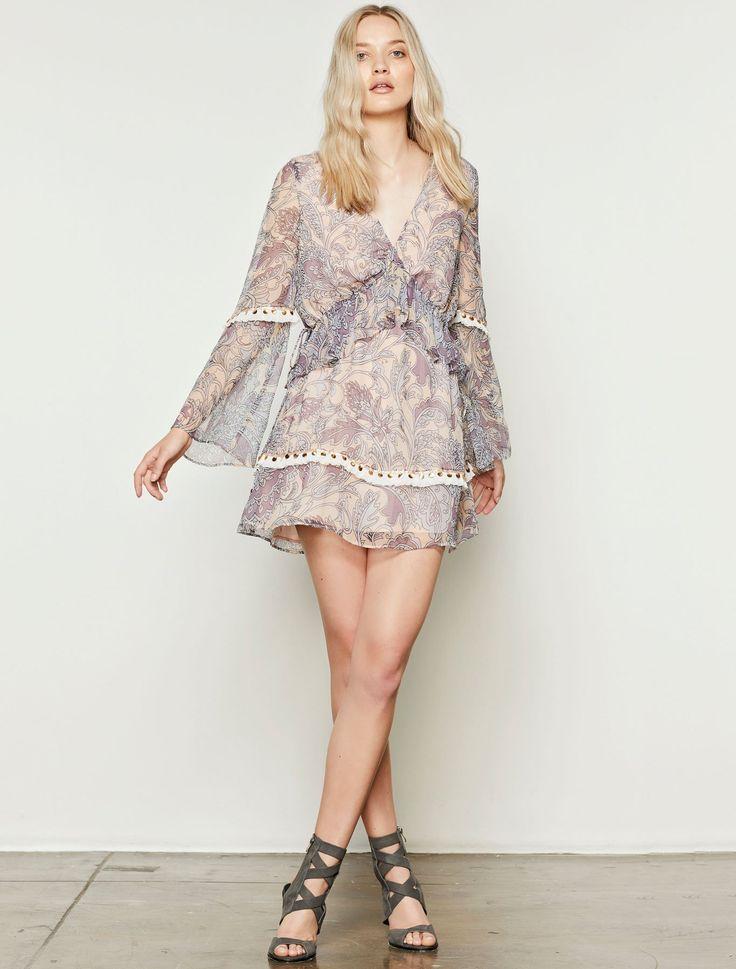 Stevie May - Kennedy Long Sleeve Mini Dress - Paisley Print