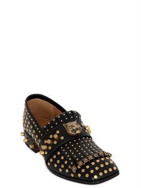 gucci - herren - loafers - loafers aus leder mit fransen