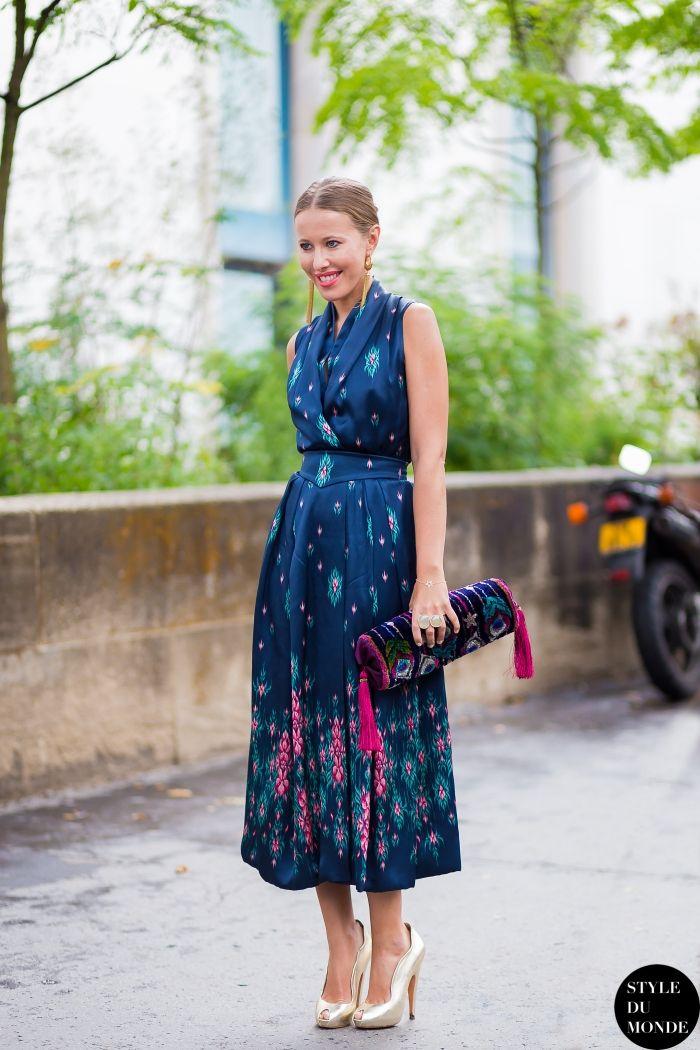 #KseniaSobchak wearing Ulyana Sergeenko.