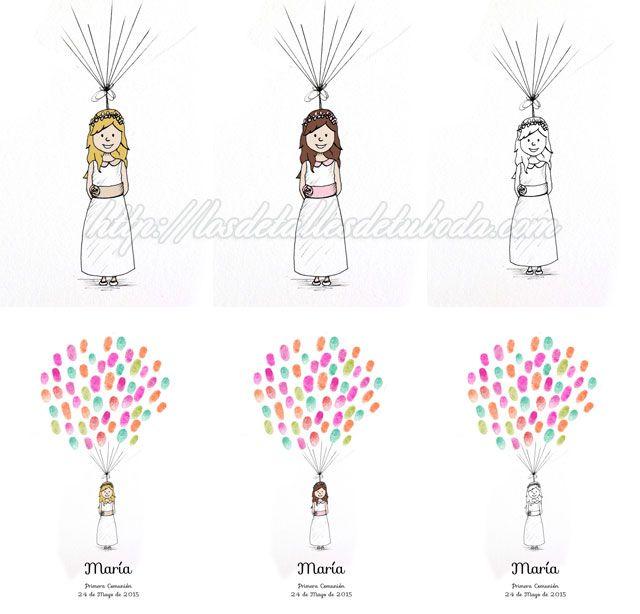 Blog de los detalles de tu boda | �rboles de huellas para comuni�n | http://losdetallesdetuboda.com/blog