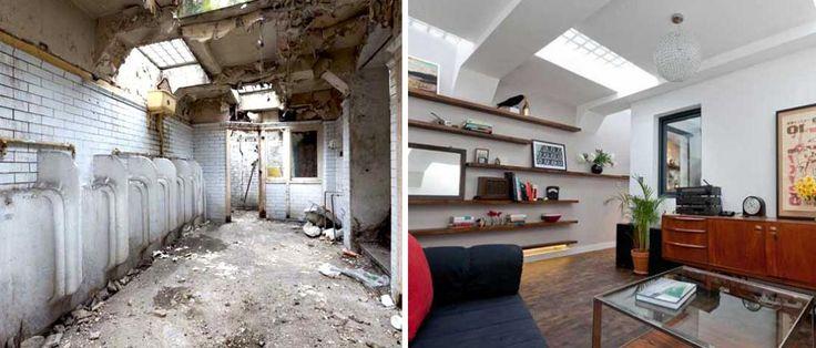 Opuszczony szalet miejski zamieniony w wygodne mieszkanie