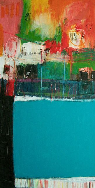 thinking of rauschenberg by anne-laure djaballah, via Flickr #colorful #abstract #art