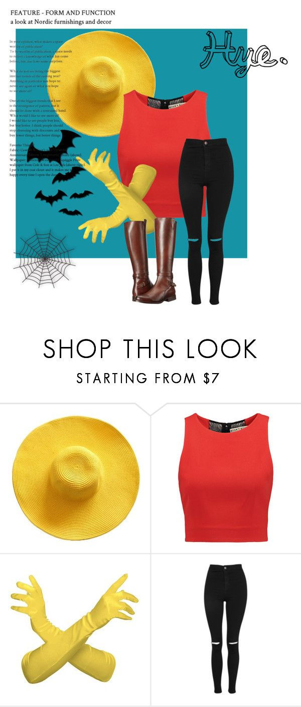 """Hye."" by itzel-martinez-perez on Polyvore featuring moda, Alice + Olivia, Topshop, Frye, Halloween, adventuretime y bts"