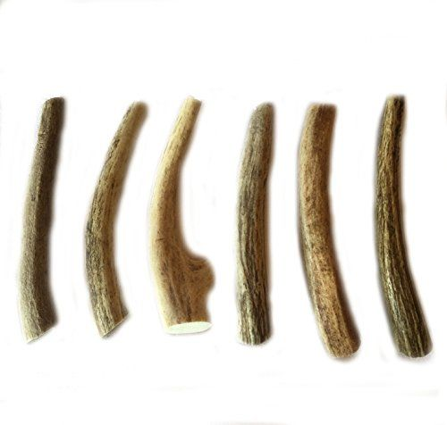 "6 Pack- Small 4""-5\"" All Natural Deer Antler Dog Chews - WhiteTail Naturals Brand * You can find out more details at the link of the image."
