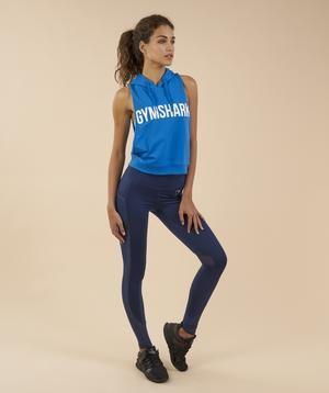 Gymshark Sleeveless Hoodie - Blueberry 4
