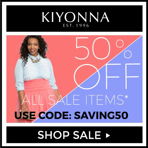 50% off Sale 50% off Sale #Plussizeclothing http://www.planetgoldilocks.com/plussize_clothing Additional 50% off Sale Items at Kiyonna with code SAVING50 Expires: June 19, 2017 Fine Print: Only valid on sale items in the Sale Category. While supplies last. Cannot be combined with any other coupon. Not valid on wholesale/military orders. FREE SPANX on orders of $150 or more Free SPANX Power Short with orders of $150 or more Expires: June 26, 2017 #kiyonna #fashions
