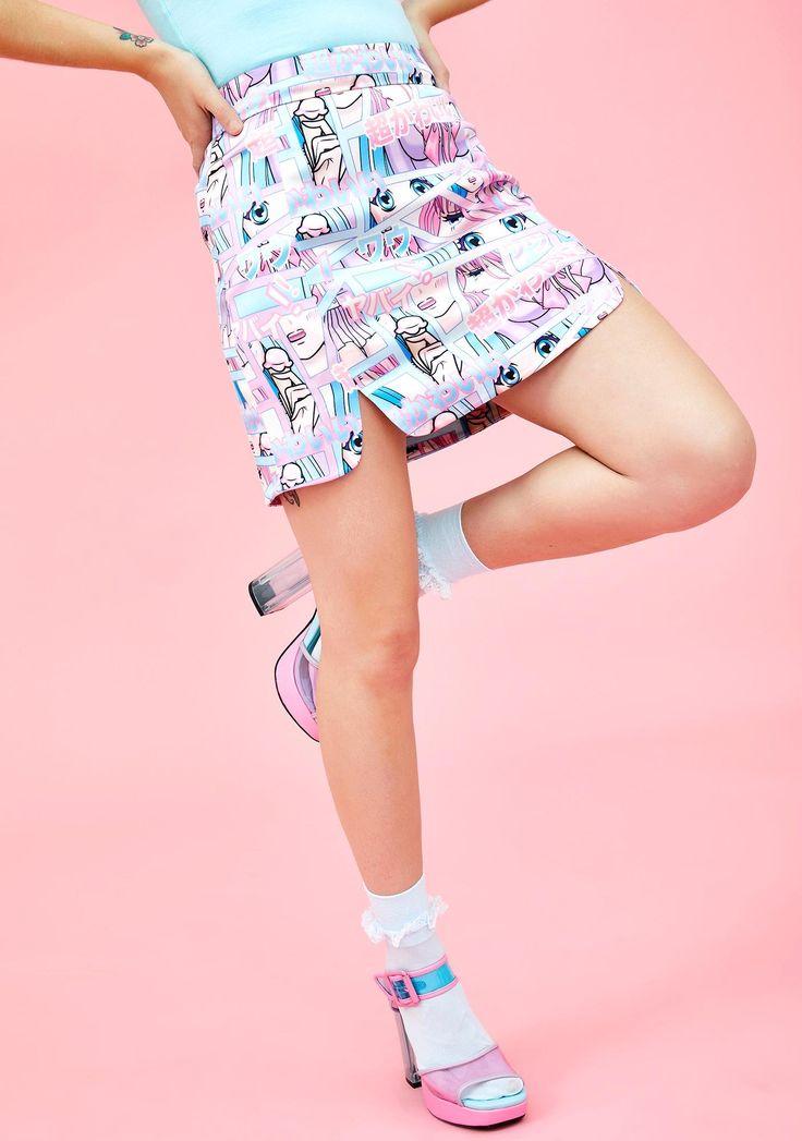 Comic Scene Cutie Mini Skirt Mini Skirts Kawaii Fashion Fashion
